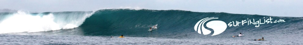 Surfing in the Mentawais, Indonesia